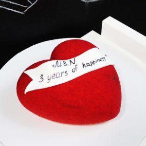 Муссовый торт Алое сердце