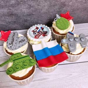 Капкейки на 23 февраля на заказ в СПб