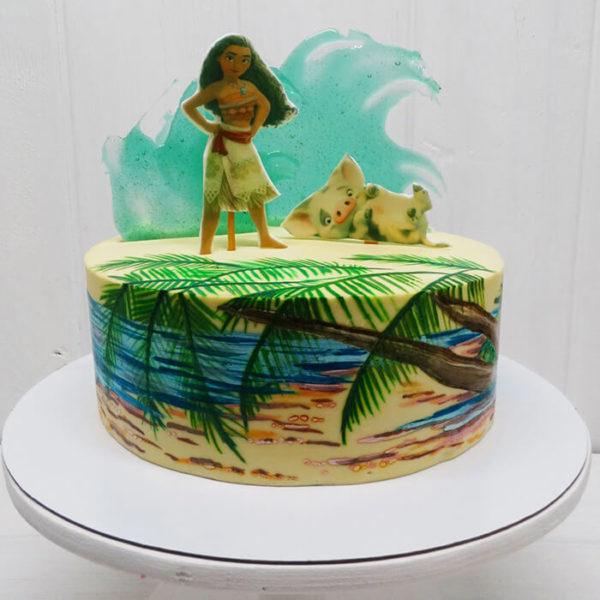 Торт в стиле Моана