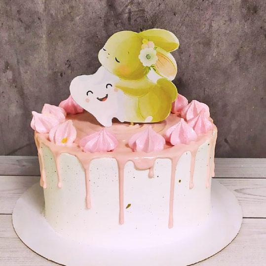 Торт зубик для девочки