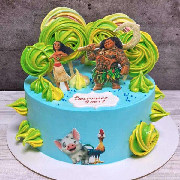Торт Моана для девочки