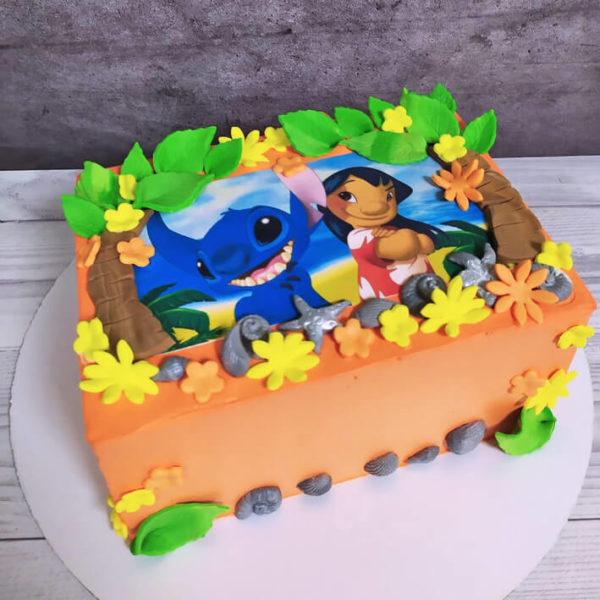 Торт с лило и стич