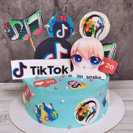Торт тик-ток для девочки