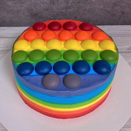 Торт в виде Поп Ит