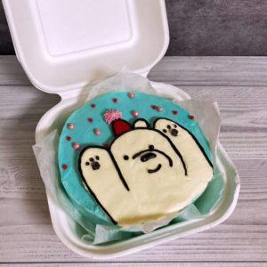 Бенто торт белый мишка