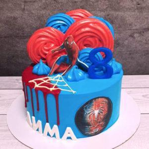 Торт для мальчика Человек паук