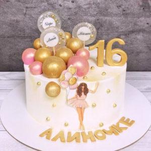 Торт на 16 лет девочке