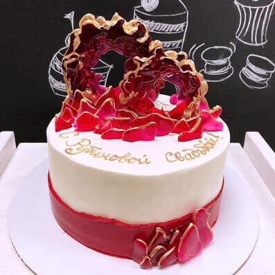 Торт рубиновая свадьба 40