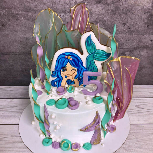 Торт Русалочка без мастики