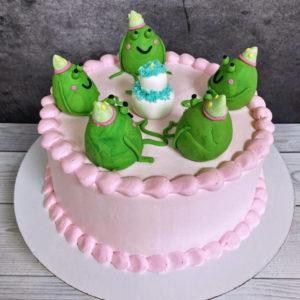 Торт с лягушками из тик тока
