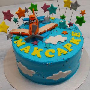 Торт с самолетом детский