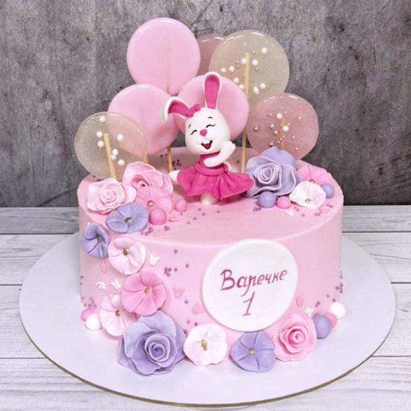 Торт с зайкой для девочки