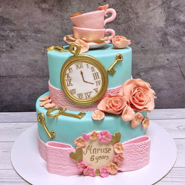 Торт в стиле алиса в стране чудес