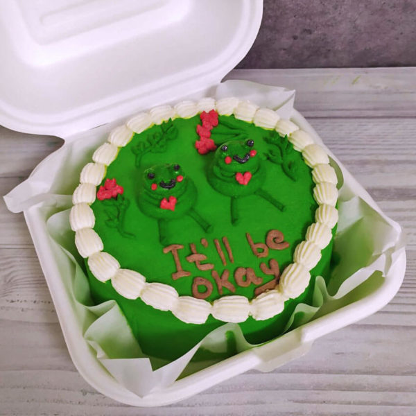Бенто торт с лягушками