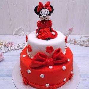 Торт для девочки с минни маус