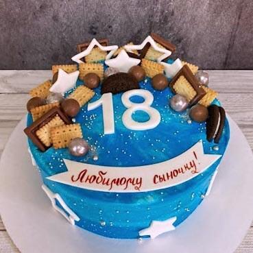 Торт на 18 лет парню