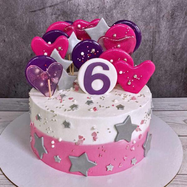 Торт на 6 лет без мастики