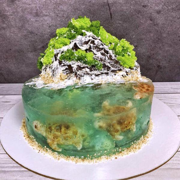 Торт остров с желе