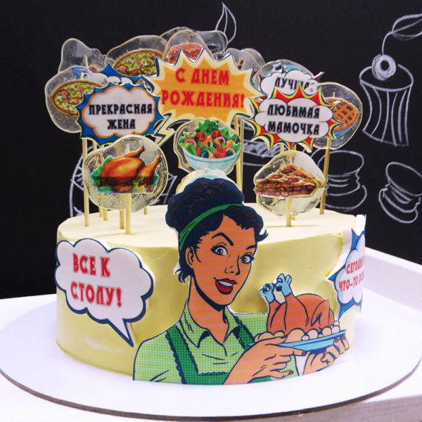 Торт поп арт для женщины
