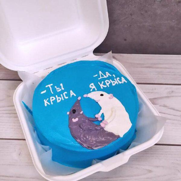 Бенто-торт с крысами